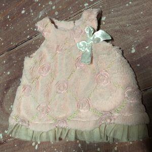 Pink Little Lass Baby Fuzzy Dress